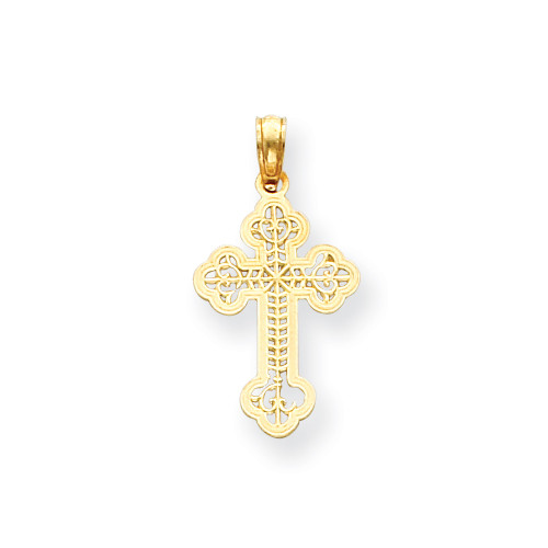 14KT Open Work Orthodox Cross