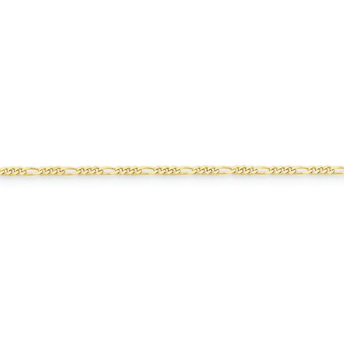 10KT 2.2MM Figaro Chain- Various Lengths