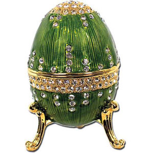 Imperial Egg Trinket Music Box- Green