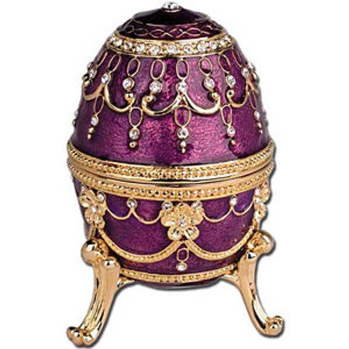 Imperial Egg Trinket Music Box- Purple