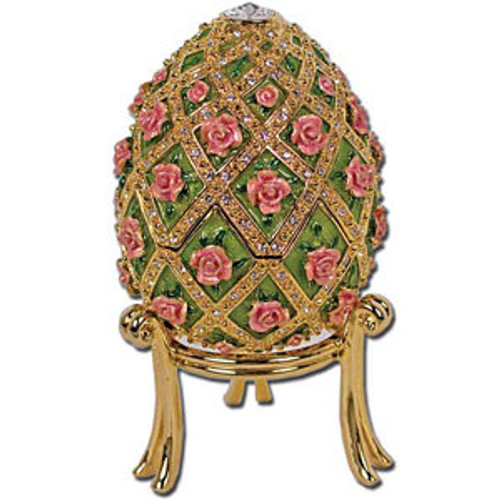 Imperial Egg Trinket Music Box- Garden Rose