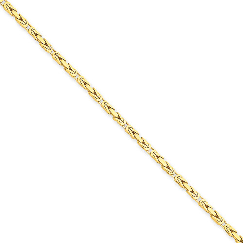 14KT 2mm Byzantine Chain- Various Lengths
