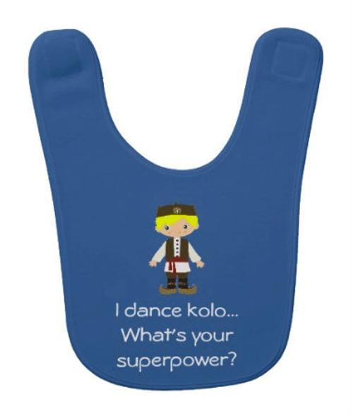 Serbian Dancer Baby Bib: Boy