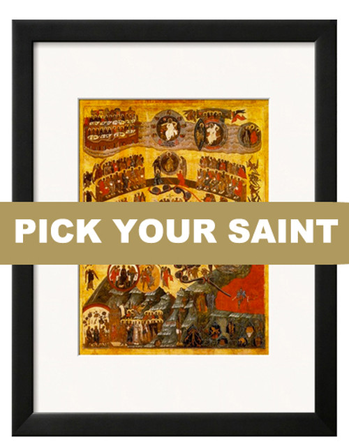 """Pick-Your-Saint Matted and Framed Icon Print: 8 x 10"""" Frame"""