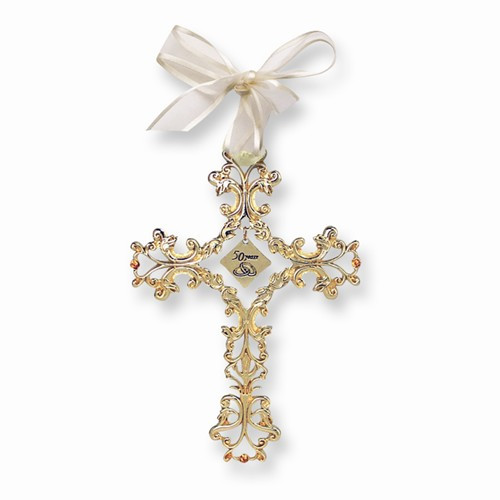 50 Years Golden Anniversary Hanging Wall Cross- 4 3/4""