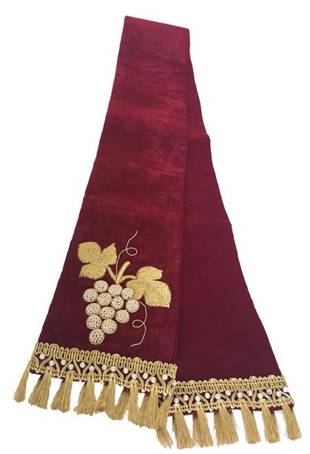 Handmade Beaded & Embroidered Silk Gospel Bookmark