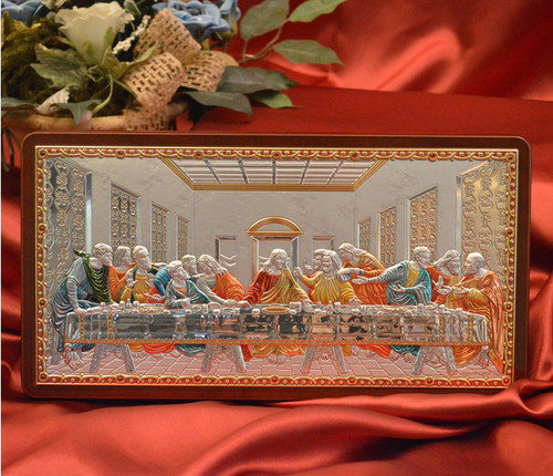Mystical Supper Colored Silver Icon: 4 Sizes