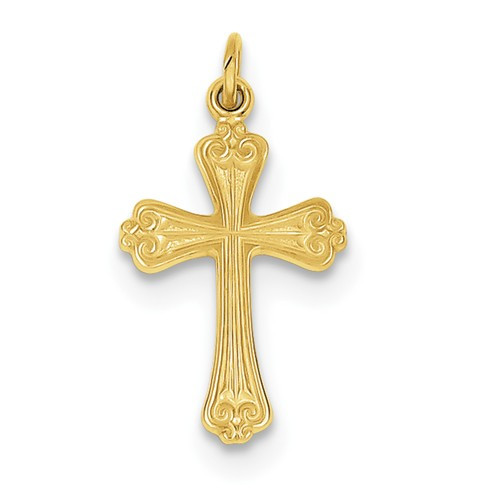 Sterling Silver and 24K Gold-plated Cross - 1""