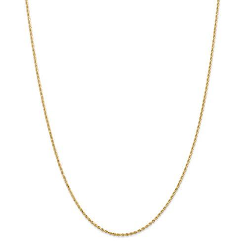 "14KT 1.5MM Diamond-Cut Rope Chain- 14"""