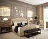 Aria Wing Linen Upholstered Platform King Bed Frame