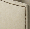 Aria Wing Linen Upholstered Platform Bed Frame