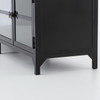 Shadow Box Industrial Black Metal Media Console