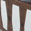 Berlin Reclaimed Wood 4 Door Console with Antiqued Mirror