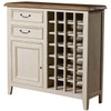 Cottage Reclaimed Wood Wine Cabinet Small Sideboard - White