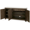 California Rustic Oak storage credenza