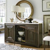 California Rustic Oak 3 Door Credenza