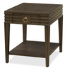 California Rustic Espresso Oak 1 Drawer End Table