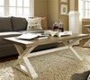 Coastal Beach White Oak Trestle Coffee Table