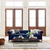 Kensington Navy Upholstered Chesterfield Sofa