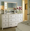 Country-Chic Cottage White Dresser with Mirror
