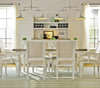 Country-Chic Maple Wood White Extending Dining Room Tables - Driftwood