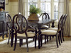 Country-Chic Maple Wood Black Pierced Back Arm Chairs for sale