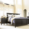 Country-Chic Maple Wood 3 Drawer Black Nightstands - Bedroom