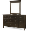 Country-Chic Cottage wooden dresser with mirror
