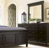 Country-Chic Maple Wood 9 Drawer Black Bedroom Dresser with Mirror