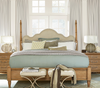 French Modern four poster bed frame
