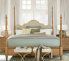 French Modern four post bed frame