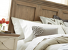 French Modern Hickory Wood Queen Panel Headboard Bed Frames