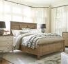 French Modern Hickory Wood Queen Panel Headboard Beds Frame
