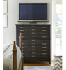 French Modern Dark Wood Bedroom Media Chest of Drawers