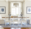 French Modern Light Wood Double Pedestal Extension Dining Tables
