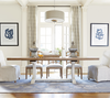 French Modern Light Wood Trestle Extension Dining Tables