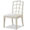 French Modern Slip Upholstered White Dining Chair