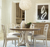 French Modern Slip Upholstered White Dining Room Chairs