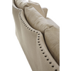 Connor Belgian Slope arms Linen upholstered sofa with nailheads