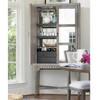 Playlist Vintage Grey Oak Antique Mirrored Bar Cabinet
