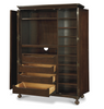 Proximity Cherry Wood 2 Door Armoire Wardrobe