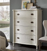 Amity French Oak Wood 4 Drawer White Chest of Drawers