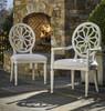 Sojourn Slip Upholstered Medallion Dining Arm Chair  - Summer White