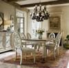 Sojourn Slip Upholstered Medallion Dining Room Arm Chair  - Summer White