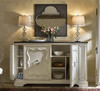 Sojourn French Country White Serving Credenza with Bluestone Top