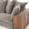 Bowery Dorset Sofa with Block Wood Arms