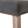 Ashford Destroyed Black Leather Bar Stool