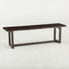 Live Edge Solid Wood & Iron Dining Bench 56""
