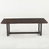 Live Edge Solid Wood & Iron Coffee Table 52""