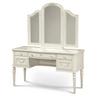 Rosalie Kids Vanity Desk with Mirror - White